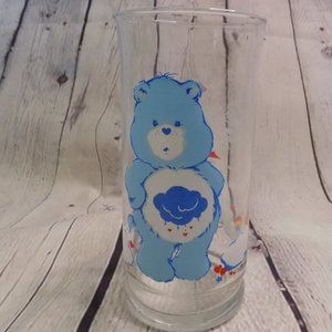 Vtg Care Bears Grumpy Bear limited edition glass